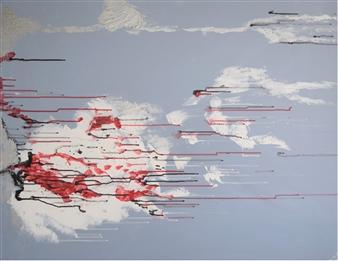 """Sans titre 2010-1 Acrylic on Canvas 29"""" x 36.5"""""""