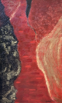 """Conflict Acrylic & Mixed Media on Canvas 60"""" x 36"""""""