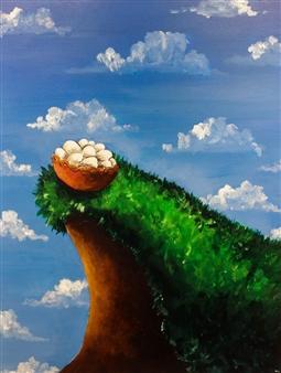 """The Hopeless Optimistic Acrylic on Canvas 30"""" x 24"""""""