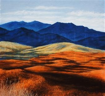 "Burnt Orange Pastel on Paper 24"" x 26"""