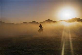 "Silhouette of rider - Rıdvan Hoşgör - Turkey Photograph 0"" x 0"""