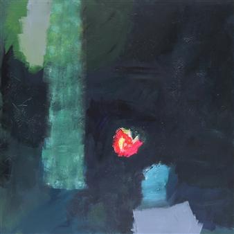 """Hoffnung Acrylic & Gouache on Canvas 39.5"""" x 39.5"""""""