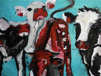 """Wer Bist Du? Acrylic on Canvas 24"""" x 31.5"""""""