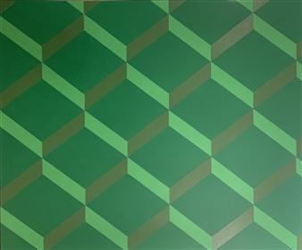 "The Contemporary #GREEN Acrylic on Canvas 60"" x 72"""