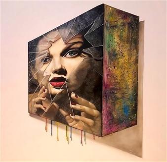 """Cyborg 1 Oil on Canvas 31.5"""" x 31.5"""""""
