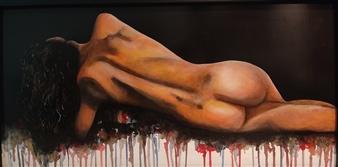 "Bella Solitudine Acrylic on Wood 23.5"" x 47"""