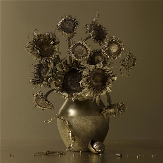 Still Life in Gold with Vincent's Sunflowers / second variation