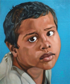 """Why are You Shooting Me? Oil on Canvas 18"""" x 15"""""""