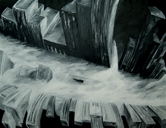 "City Dream Oil on Canvas 43.5"" x 55"""