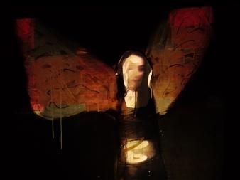 "Immortalité Digitale I Mixed Media on Canvas 20"" x 28"""