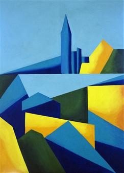 "New York New York Oil on Canvas 40"" x 30"""