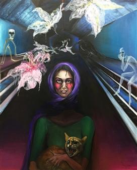 "Fatal Fool Oil on Canvas 64"" x 51.5"""