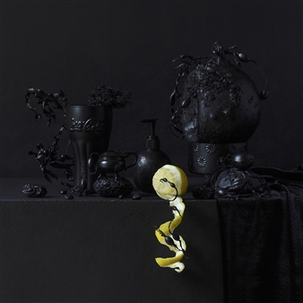 Still Life in Black with Lemon / second variation