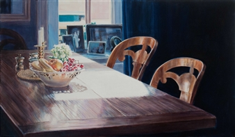 """On Subjective Time Travel V Oil on Canvas 28"""" x 47"""""""