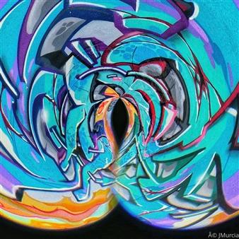 """Raw Graffiti Archival Pigment Print 35"""" x 35"""""""