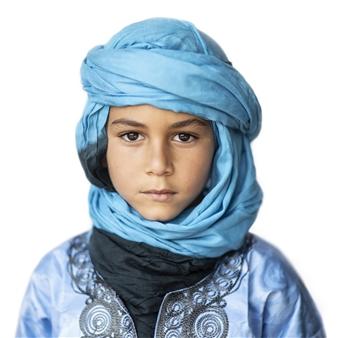 "Moroccan Boy Archival Pigment Print 40"" x 40"""