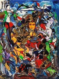 "The Three Gracias Acrylic on Canvas 40"" x 30"""
