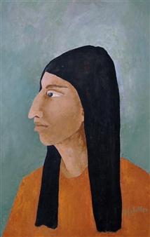 """Portrait Oil on Masonite 26"""" x 16"""""""