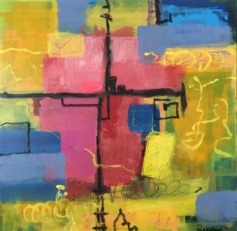 "Untitled #178 Acrylic on Canvas 24"" x 24"""
