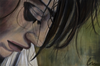 """Deep in Thought Limited Edition Hand Painted Print 48"""" x 72"""""""