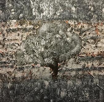 """Autumn Snow Acrylic on Canvas 36"""" x 48"""""""