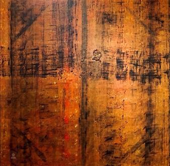 """Sacred Doors Acrylic on Canvas 72"""" x 72"""""""