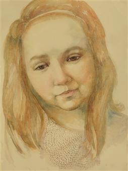 "Elizabeth Watercolor on Paper 30"" x 22"""