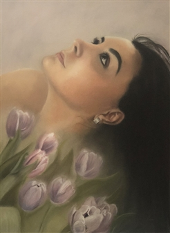"""Beauty Oil on Stretched Canvas Board 24.5"""" x 17.5"""""""