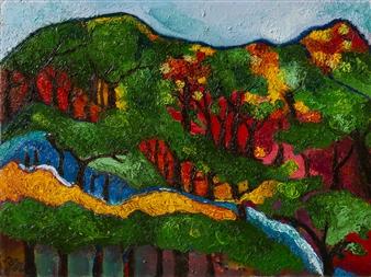 """Korean Mountain 1 Oil on Canvas 17.5"""" x 23.5"""""""