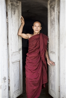 Monk at Door