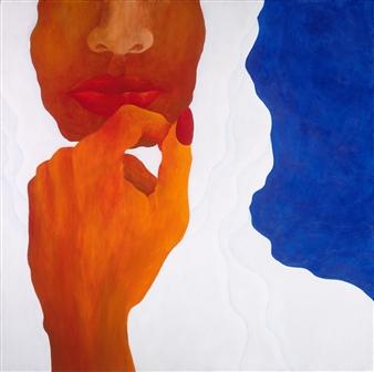 "White Robe Blue Sky Acrylic on Canvas 36"" x 36"""