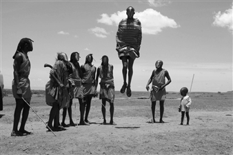 "African Tribe Digital C-Print 32"" x 48"""