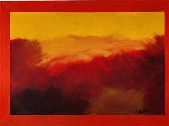 """Sunset Sky Oil & Acrylic on Canvas 31.5"""" x 43.5"""""""