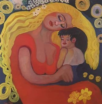 "Softness Oil on Canvas 31.5"" x 31.5"""