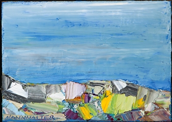 "No. 36 Acrylic on Canvas 19.5"" x 27.5"""