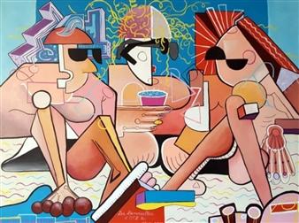 """Les Demoiselles de OTLes Acrylic on Canvas 36"""" x 48"""""""