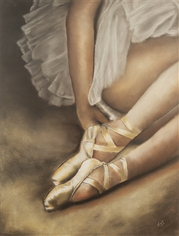 """Pause Pastel on Paper 23.5"""" x 19.5"""""""