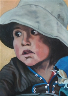 A Little Girl with a Doll