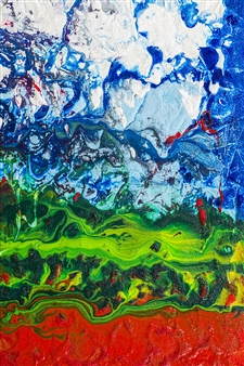 "Untitled 65 Acrylic on Canvas 36"" x 24"""