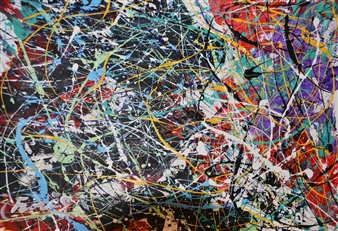 "Fragmentation Acrylic on Canvas 22"" x 25.5"""