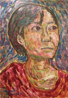 """A Woman Above Her Chest No.3 Oil on Canvas 36"""" x 26"""""""