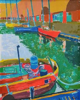 """Albert Dock Pastel on Paper 19"""" x 14"""""""