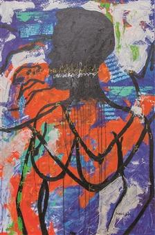 "Two Wills  (Sacrifices) Acrylic on Canvas 36"" x 24"""