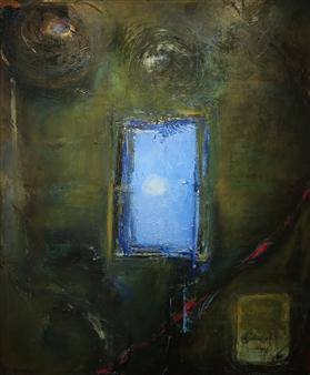 "Black Sun Rising Oil on Canvas 72"" x 60"""