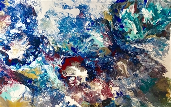 """A Burst of Color Acrylic on Canvas 24"""" x 36"""""""