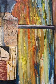 "Vase Near Rain Stained Window Oil & Acrylic on Canvas 30"" x 20"""