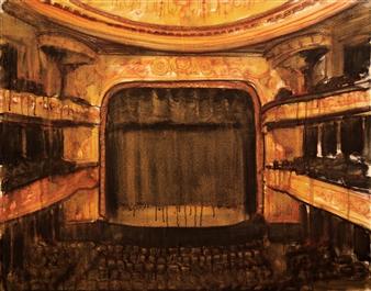 """Boca de Cena II Oil & Pastel on Canvas 31.5"""" x 39.5"""""""
