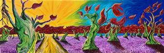 "Effimero Oil on Canvas 16"" x 39.5"""