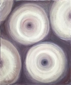 """Pensées Oil on Canvas 25.5"""" x 21.5"""""""