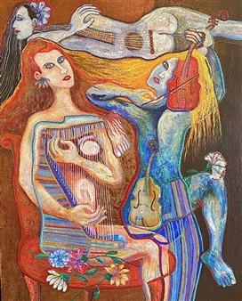 """Concertista Acrylic on Canvas 50"""" x 40"""""""